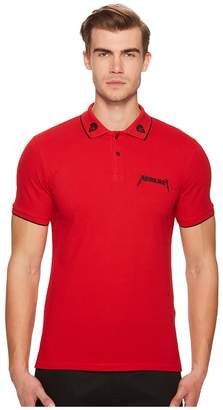 The Kooples Red Polo Shirt with Star Embroidery Men's Short Sleeve Pullover