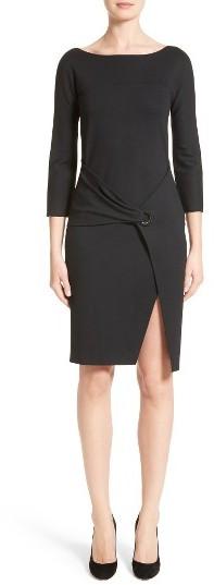Women's Armani Collezioni Grommet Detail Milano Jersey Dress