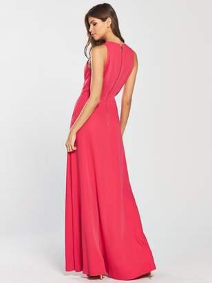 186726d61 Ted Baker Madizon Contrast Pleat Maxi Dress - Deep Pink