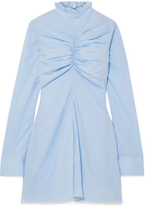 Marques Almeida Marques' Almeida - Ruched Tencel Mini Dress - Sky blue