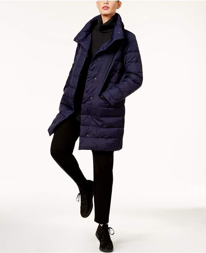 Eileen Fisher Stand-Collar Cocoon Coat, Regular & Petite