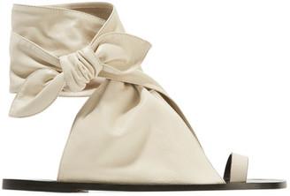 Isabel Marant - Maheo Leather Sandals - Ecru $740 thestylecure.com