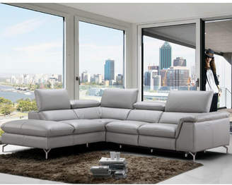 Wade Logan Dupont Leather Reclining Sectional Orientation: Left Hand Facing
