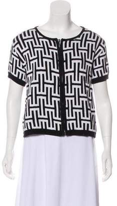 Halston Patterned Short Sleeve Top