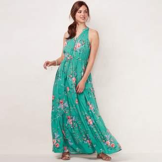 Lauren Conrad Women's Print Halter Maxi Dress