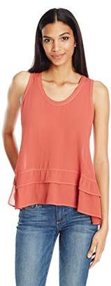 Wilt Women's Tie Open Back Baby Doll Top