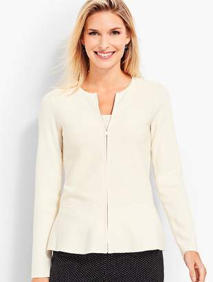 Talbots Zip-Front Sweater Jacket