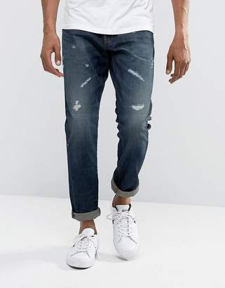 G Star G-Star 3301 Tapered Dark Aged Restored Wash Jean