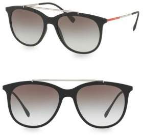 Prada Men's Linea Rossa 54MM Gradient Matte Black Sunglasses - Black Grey