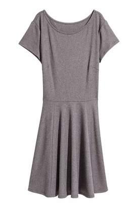 H&M Jersey Dress - Dark gray melange - Women