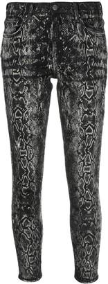 Amiri snakeskin-print skinny jeans