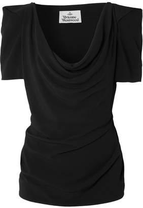 Vivienne Westwood - Virginia Draped Crepe Top - Black