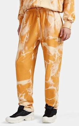 424 X Armes Men's Embroidered Bleached Cotton Sweatpants - Orange