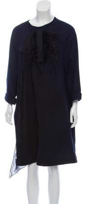 Ter Et Bantine Feather-Accented Wool Dress