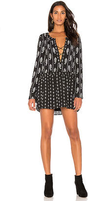 The Jetset Diaries Lace Up Mini Dress