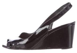 Christian Louboutin Slingback Wedge Sandals