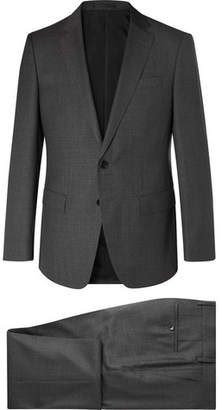 HUGO BOSS Dark-Grey Huge Genius Slim-Fit Virgin Wool Suit - Men - Gray