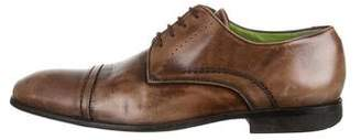 Kenzo Burnished Leather Cap-Toe Derby Shoes
