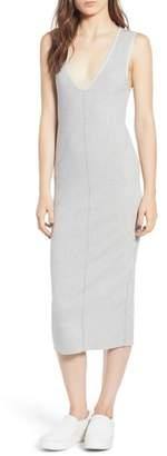 James Perse Rib Knit Midi Dress