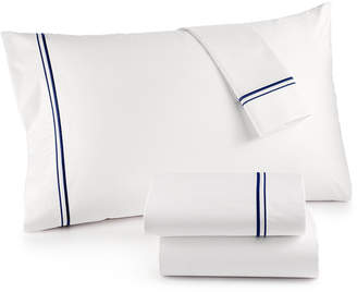 Hotel Collection 525 Thread Count Cotton Embroidered Queen Sheet Set