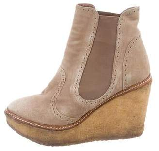 Rebecca Minkoff Suede Wedge Ankle Boots