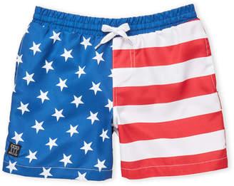 Trunks Brooklyn Cloth (Boys 8-20) American Flag Swim