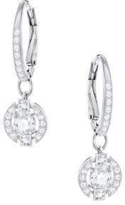 Swarovski Sparkling Dance Crystal Studded Hoop Earrings