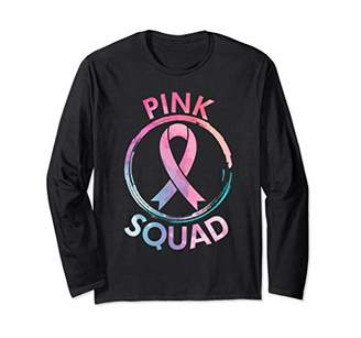 Breast Cancer Awareness Pink Squad Kids Womens Gift Long Sleeve T-Shirt
