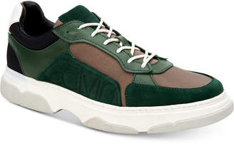 Calvin Klein Men's Penley Smooth Leather Sneakers Men's Shoes