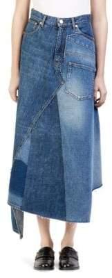 Loewe Denim Patchwork Maxi Skirt