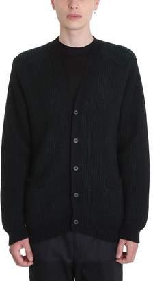 Lanvin Green/black Wool Cardigan