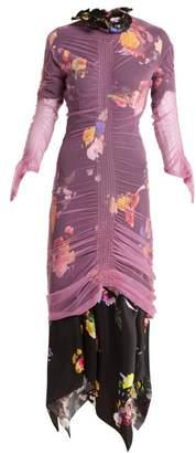 Preen by Thornton Bregazzi Lynn Floral Print Tulle Overlay Dress - Womens - Pink Multi