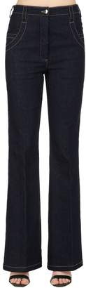 Nina Ricci High Waist Flared Denim Pants