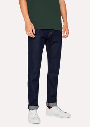 Paul Smith Men's Slim-Standard 12.5oz 'Rigid Western Twill' Indigo Denim Jeans