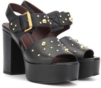 See by Chloe Eva leather plateau sandals