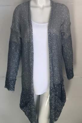 En Creme Multi-Colored Knit Cardigan
