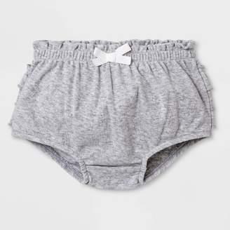 Cat & Jack Baby Girls' Ruffle Bloomer Pull-On Shorts Gray