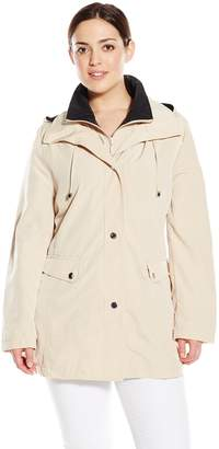 Big Chill Women's Plus-Size Lightweight Faux Silk Vestee Coat