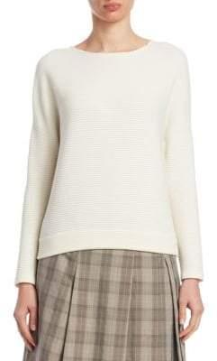 Akris Punto Ribbed Boatneck Sweater
