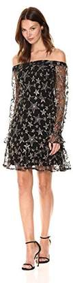 Sam Edelman Women's Star Embroidery Off The Shoulder