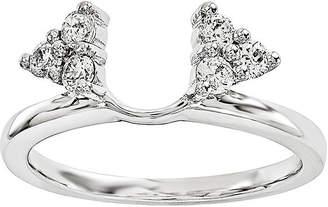 MODERN BRIDE 1/4 CT. T.W. Diamond 14K White Gold Ring Wrap