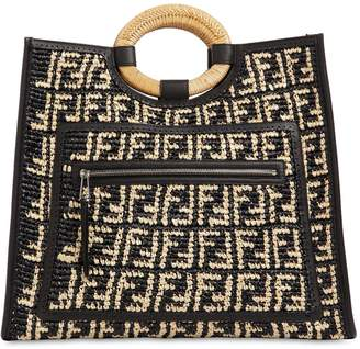 Fendi Runaway Large Raffia Shopping Bag