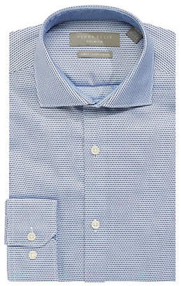 Perry Ellis Slim Fit Stretch Micro Dot Dress Shirt