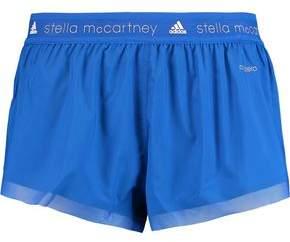 adidas by Stella McCartney Mesh-Trimmed Shell Shorts