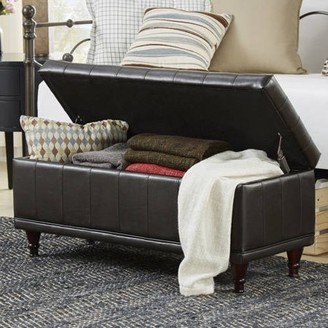 Weston Home Chelsea Lane Lift-Up Faux Leather Storage Bench, Multiple Colors