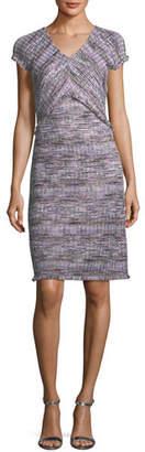St. John Anna Woven-Stripe Knit Dress