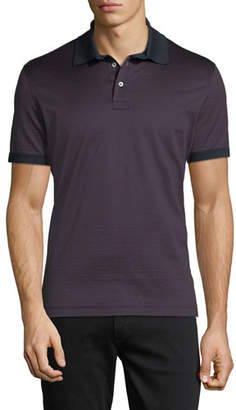 Salvatore Ferragamo Men's Gancino-Jacquard Knit Polo Shirt