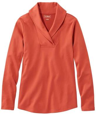 L.L. Bean Women's L.L.Bean Pullover, Long-Sleeve Shawl Collar