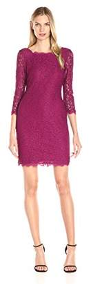 Adrianna Papell Women's Lace V Neck Dress