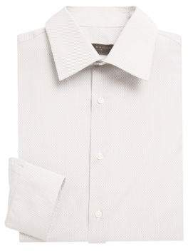 Ike Behar Cotton Striped Shirt